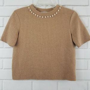Zara Trafaluc short sleeve sweater